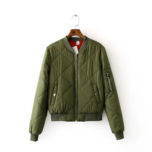 Top Quality Spring Autumn Flight Army Green Black Bomber Jacket Womans Zipper Short Jacket and Coats Brand Clothing jackets