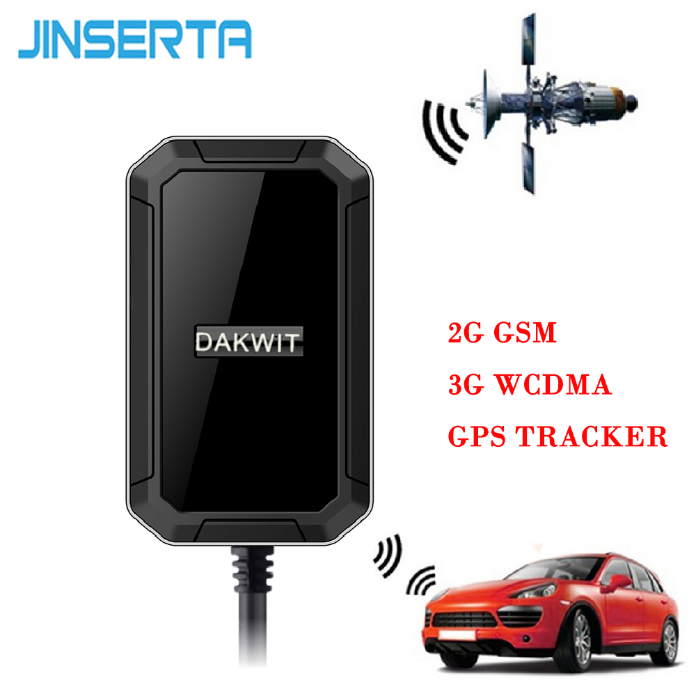 JINSERTA Mini 2G GSM 3G WCDMA GPS Tracker Real Time Locating Car Tracking System Anti Theft