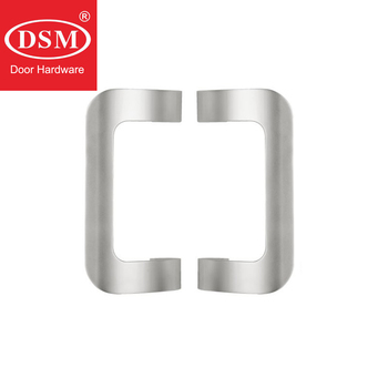 Silver Entrance Door Pull Handle Made Of Solid Aluminium Alloy PA-287-L250 For Wooden/Glass/Metal Doors