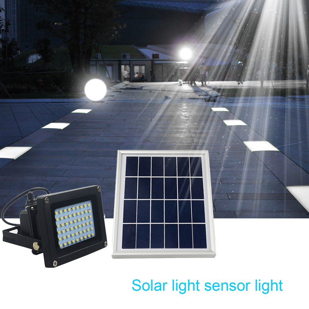 54 LEDs Solar Powered Flood Light Light Control Night Light Outdoor Emergency Lamp for Garden Lawn Pool Pathway White/Warm White 1w 78lm 7000k cool white light usb powered mini light emergency lamp blue