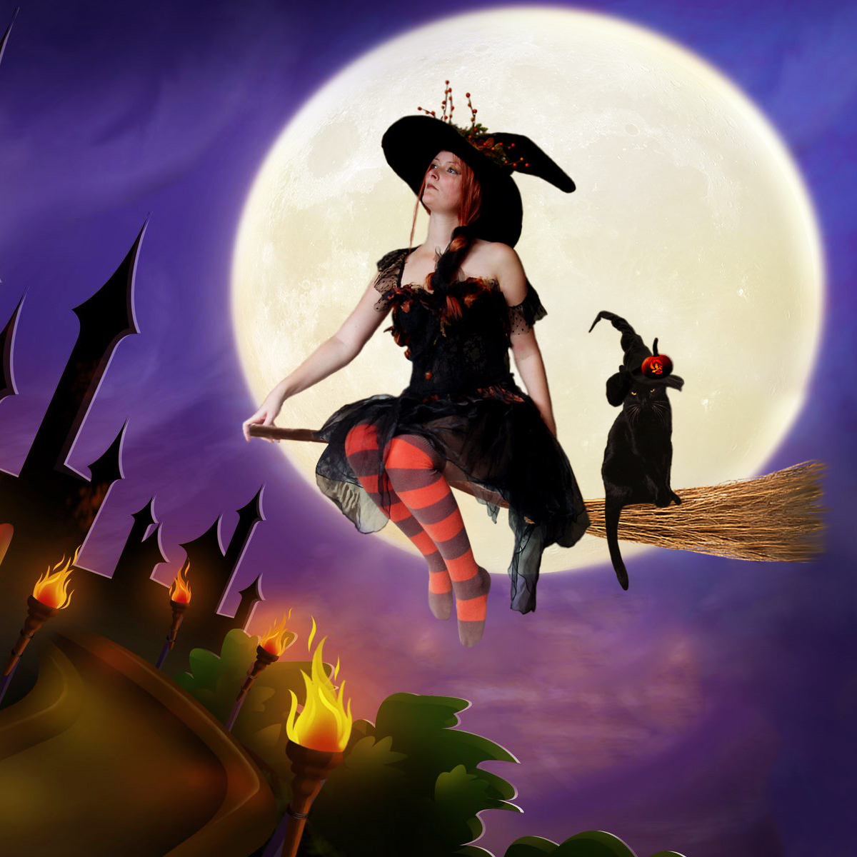 городе фотки ведьмы на метле важно