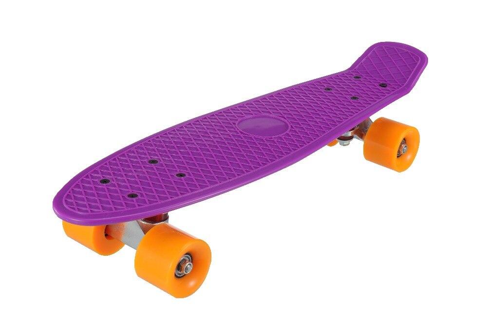 Nuevo 5 colores Pastel cuatro ruedas 22 pulgadas Mini Cruiser Skateboard Street Long Skate Board deportes al aire libre para adultos o niños - 5