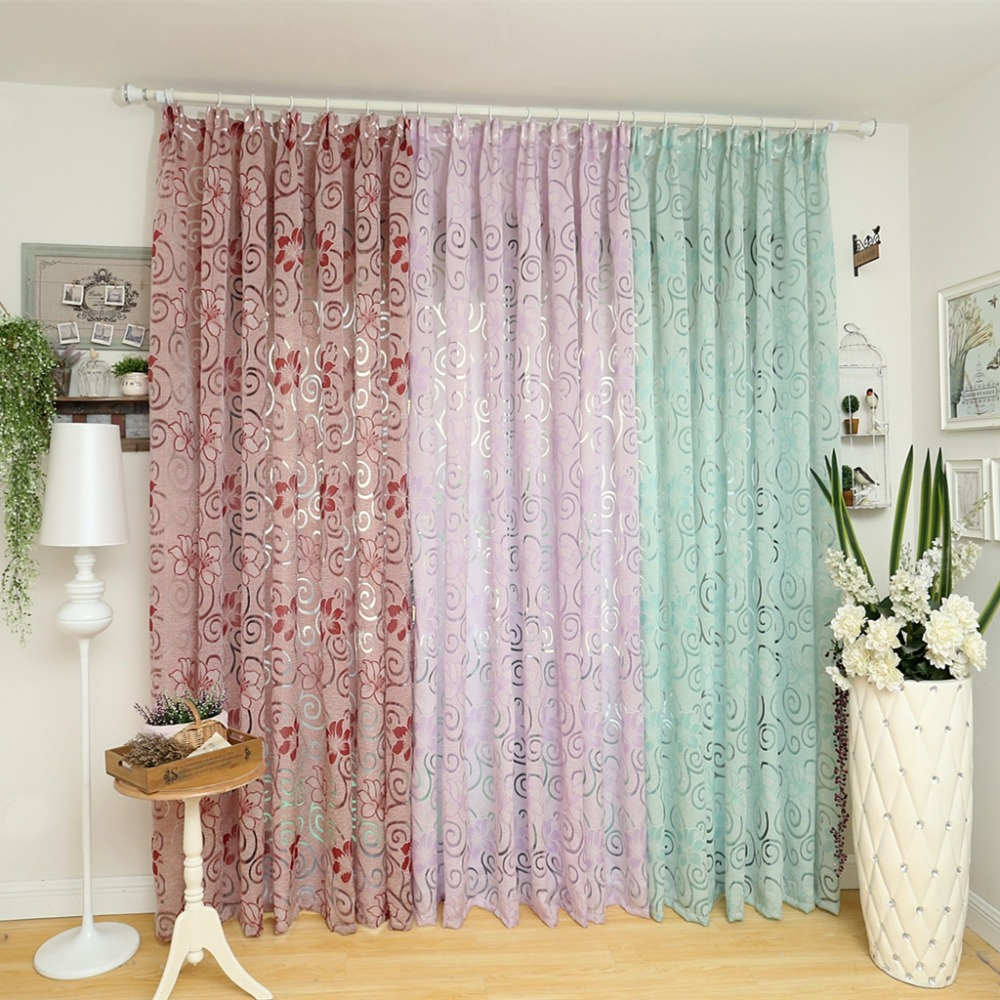 European curtain kitchen multicolored elegant curtains for for Space curtain fabric
