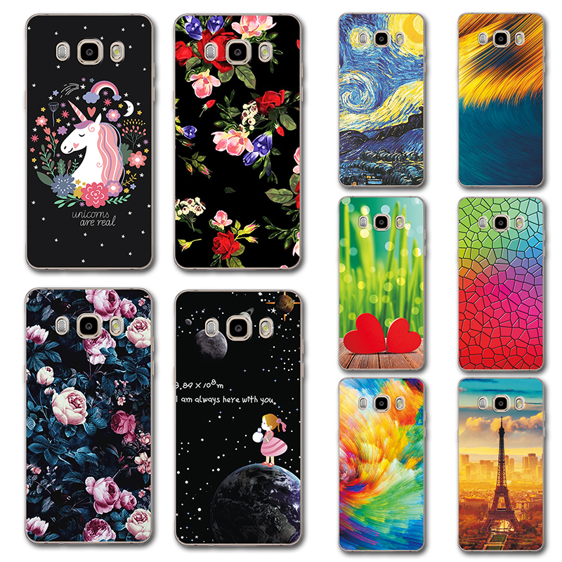 Delicious Silicone Case For Samsung Galaxy J7 2016 Novelty Phone Case Cover For Samsung J7 2016 5.5 Cute Painted Covers On J72016 J710f Colours Are Striking Phone Bags & Cases