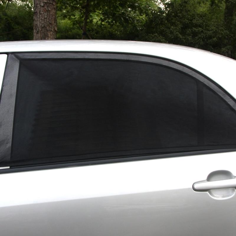 Авто-Стайлинг автомобильный козырек от солнца, 2xcar 66x54 см покрытие ветрового стекла Зонт Шторы Защита от ультрафиолетовых лучей щит козырек-сетка пыли окна автомобиля из сетчатого материала