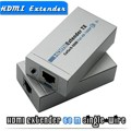 1080P HDMI Extender HDMI Transmitter Receiver over Cat 5e/6 RJ45 Ethernet Converter 1080p to 196ft 60M with power adapter