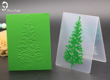 AlinaCraft 10x7.5cm Christmas tree plastic embossing folder for DIY scrapbook card envelop album frame decoration template(China)