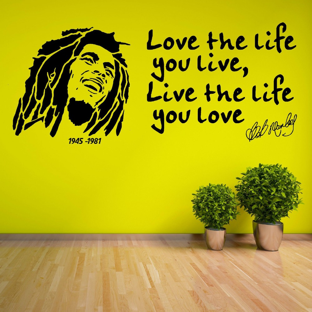 Love Quotes About Life: Aliexpress.com : Buy Love The Life You Live Quotes With