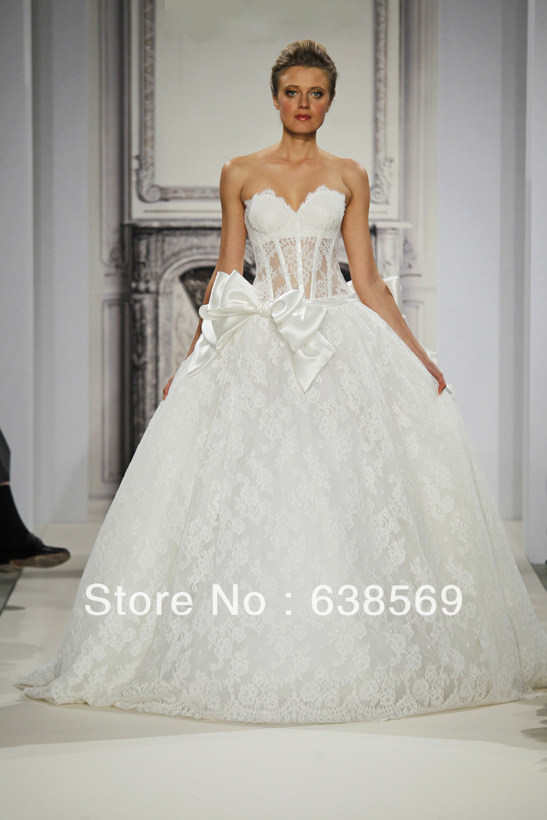 Fashion Pnina Tornai Bridal Vintage Victorian Puffy Lace Ball Gown ...
