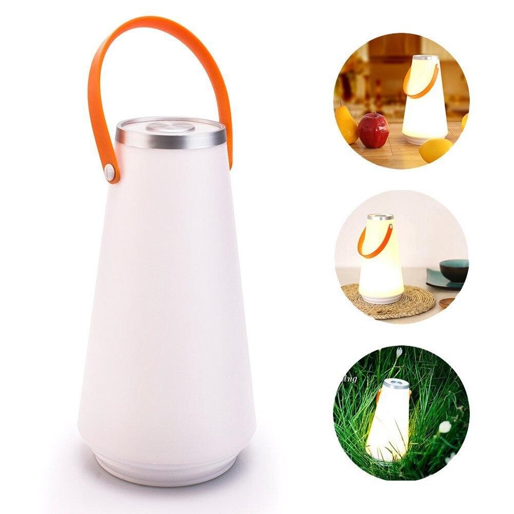 Creative Belle Portable Sans Fil LED Accueil Table de Lumière de Nuit Lampe USB Rechargeable Tactile Interrupteur Extérieur Camping Lumière D'urgence
