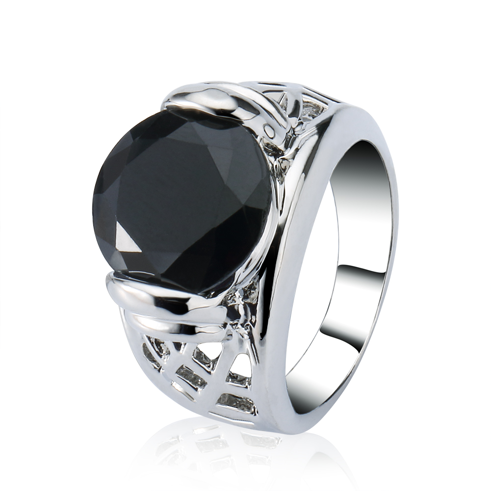 Obsidian Engagement Ring