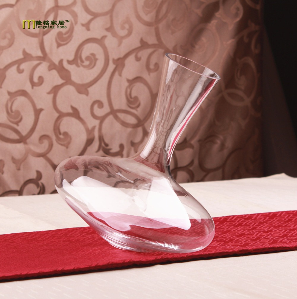 1PC Longming Home 1200ml Vintage Whiskey Wine Decanter Glass Container Glass Cystal Glass Wine Pourer Bar