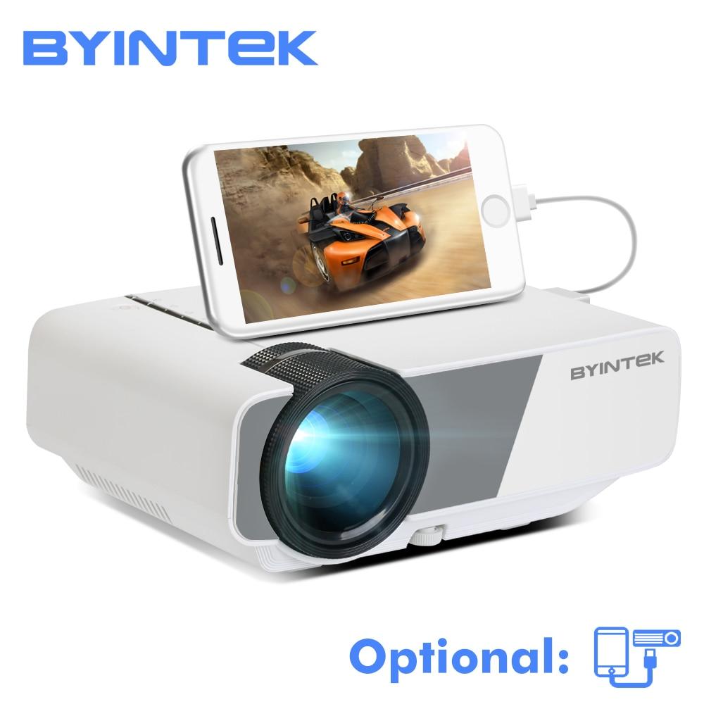 BYINTEK cielo K1/K1plus LED portátil de cine en casa Mini HD proyector (opcional con cable de sincronización de pantalla Iphone Ipad tableta del teléfono)