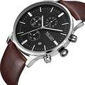 Мужские Роскошные часы MEGIR  Брендовые Часы из натуральной кожи  Relogio Masculino Horloges Mannen Erkek Saat  2019