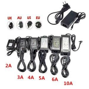 12V Power supply adapter for led strip AC110-220V to DC12V 1A 2A 3A 4A 5A 6A 10A transformer with EU/US/UK/AU plug