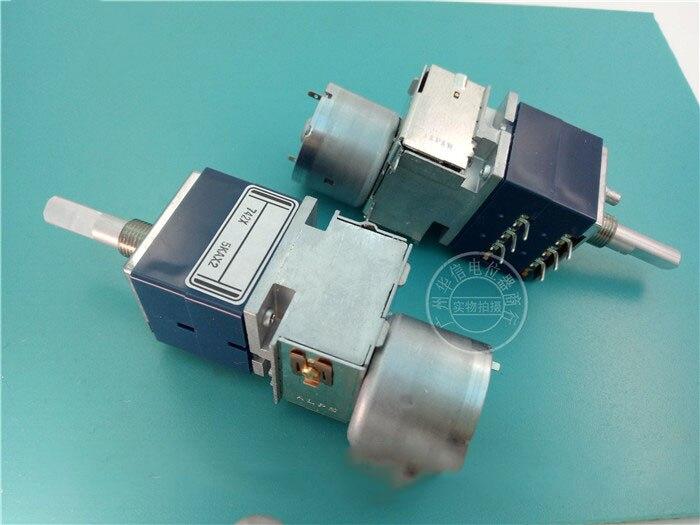ALPS RK27 motor dual potentiometer A5K 5KAX2 music tour amplifier ECI-3 combined amplifier rk27 belt motor double potentiometer a10k handle 25mmf
