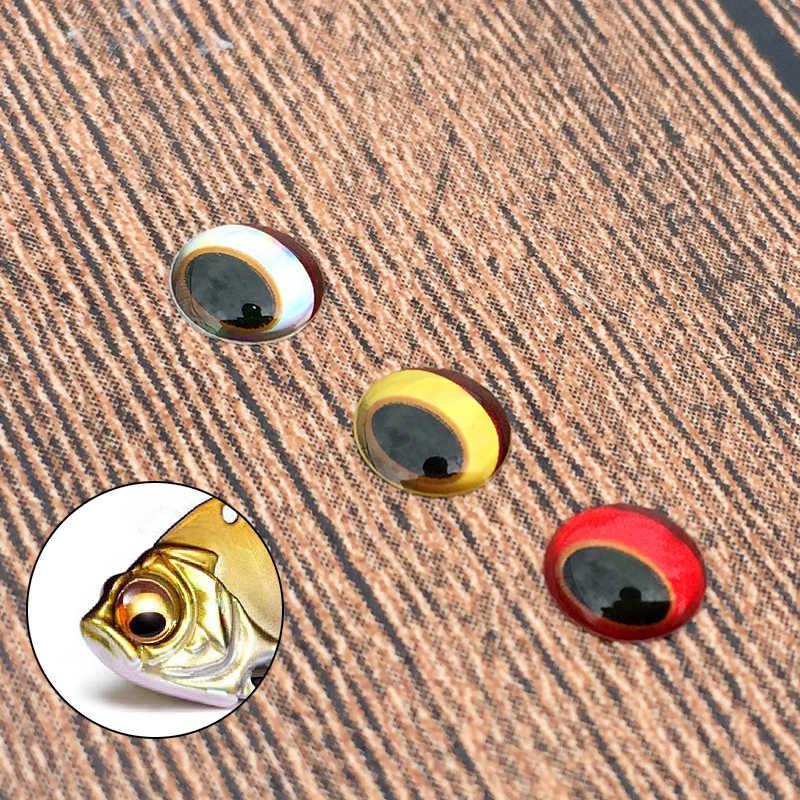 Richiamo di pesca Occhi 300 pz/set 3D Simulazione Bulbo Oculare Imbottiture Crankbait Dei Ciprinidi Popper VIB Artificiale Occhi di Pesce con il Sopracciglio