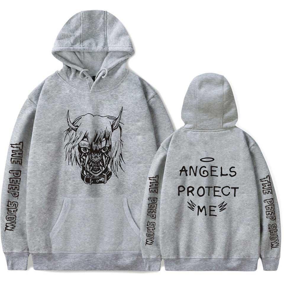 Image 4 - 2018 New Lil Peep Hoodies Men Hooded Sweatshirts Men  Pink Spring Autumn Hip Hop Harajuku Loose 4XL Hoodie Sweatshirt Streetwear-in Hoodies & Sweatshirts from Men's Clothing