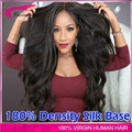 Grade 8A 4*4 Silk Top Full Lace Wigs 180 Density Body Wave Brazilian Virgin Full Lace Human Hair Wigs Black Women Silk Base Wigs