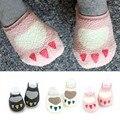 Alta calidad de impresión de la pata calcetines de bebé, caliente año nuevo navidad calcetines encantadores del bebé / de las muchachas de lana calcetines del piso calcetines 0 - 24 m