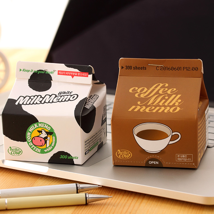 Diy creative animal cow milk coffee shape memo pad sticker new sticky post it note for school office supplies stationery s0020 in memo pads from office