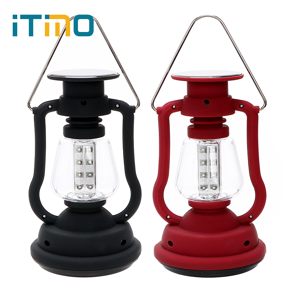 ITimo Hiking Adventure Hand Generator Emergency lamp LED Camping Lantern Solar Lamp