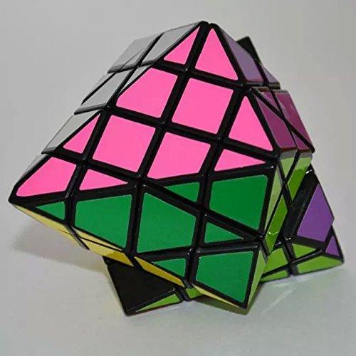 Diansheng 4 x 4 tapa octogonal en forma de pirámide plástico Cubo mágico negro vendedor caliente Twisty Puzzle Toy Cubo