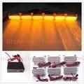 03011  6*22 LED   6X22LED Strobe Flash Warning  Car Light Flashing Emergency Firemen Lamp 132 LED amber
