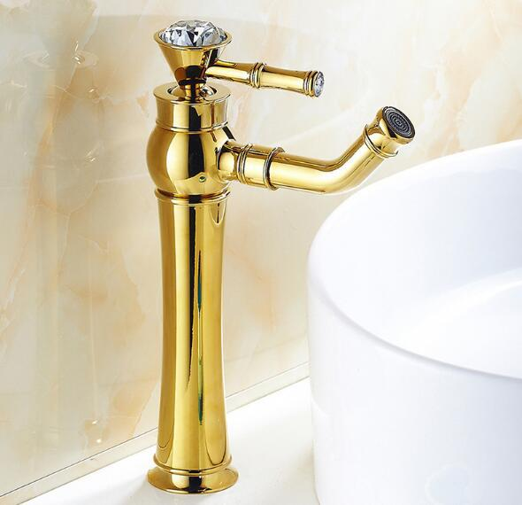 High quality Fahion Modern Gold Faucet bathroom cold and hot water faucets bathroom tall sink faucet bath taps mixer moose shopkins 12шт в блистере