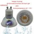4pcs 6W COB GU10 Dimmable LED Spot Light COB Lamp AC220-270V Driverless COB Waterproof  IP65 LED Bulb 4W 6W LED Down Light