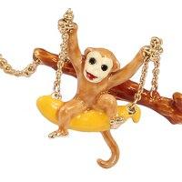 2017 New Style Original Money Play In Swings Elegant Noble Animal Jewelry Enamel Glaze Necklace Choker