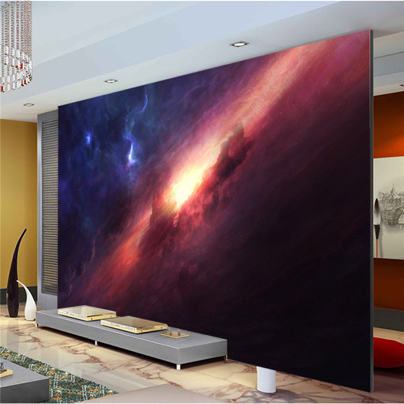 Aliexpress.com : Buy 3D Charming Galaxy wallpaper Room decor ...