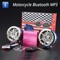 Motorcycle Bluetooth Audio Sound System Stereo Speakers FM Radio MP3 Music Player Scooter ATV Remote Control Alarm Speaker