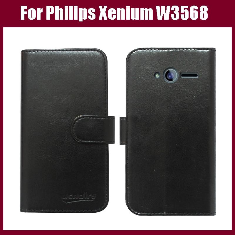 Divatos pénztárca bőr tok Philips Xenium W3568 okostelefonhoz - Ingyenes házhozszállítás.