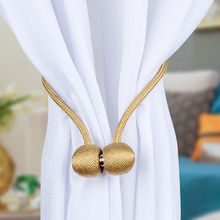 Tie Backs Clips-Accessory Curtain-Rods Magnetic-Pearl-Ball Buckle