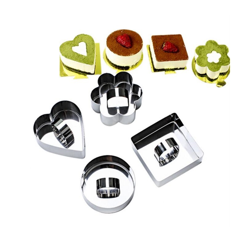 4 Pcs/lot Metal Caketool Maker 3d Cartoon High Quality Mold Mousse Tool Shape Pancake Rings Kitchen Supplies Wholesale Egg & Pancake Rings