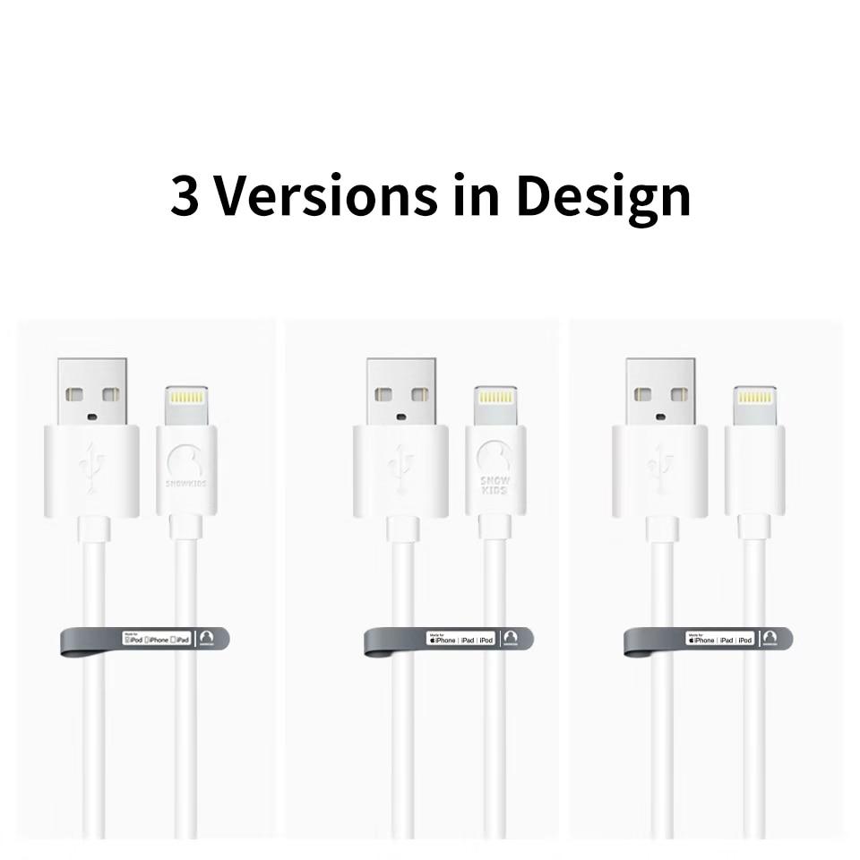 Snowkids for MFi Lightning Cable USB Cable 2pcs / lot for iPhone 11 X - მობილური ტელეფონი ნაწილები და აქსესუარები - ფოტო 6