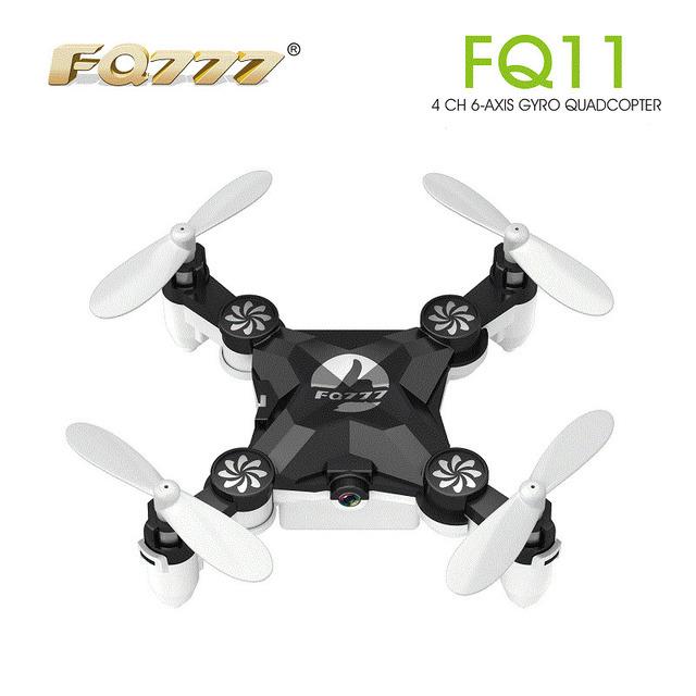 FQ777 FQ11 Con Brazo Plegable 3D Mini 2.4G 4CH 6 Headless Modo Portátil eje RC Quadcopter Helicóptero de Una Tecla de Retorno RTF