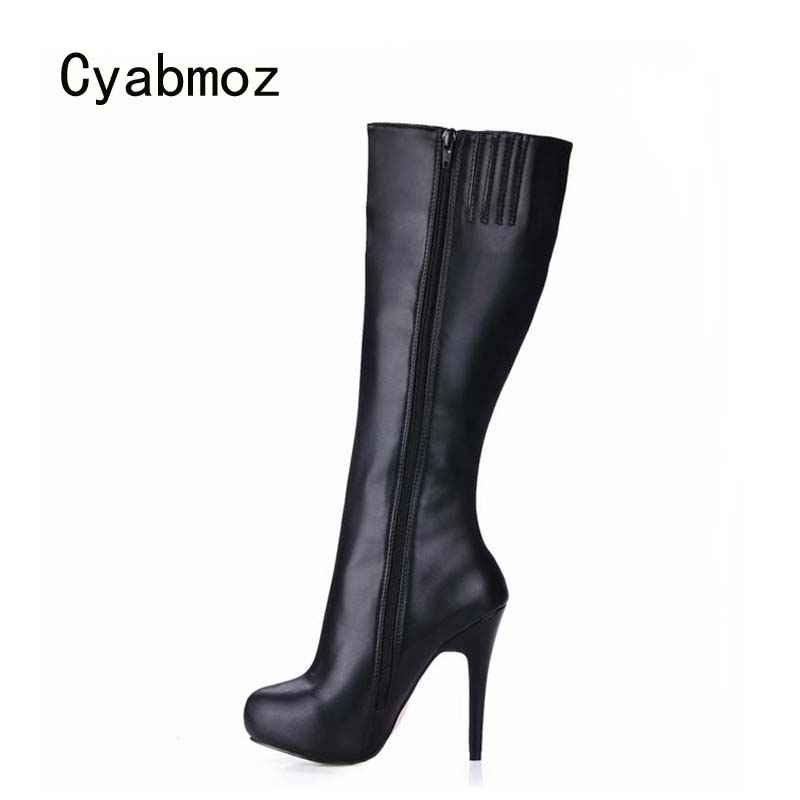 Cyabmoz High heels Shoes Woman Women Winter Snow Boots Botas Mujer invierno Over the knee Thigh High Boots Party Zapatos mujer