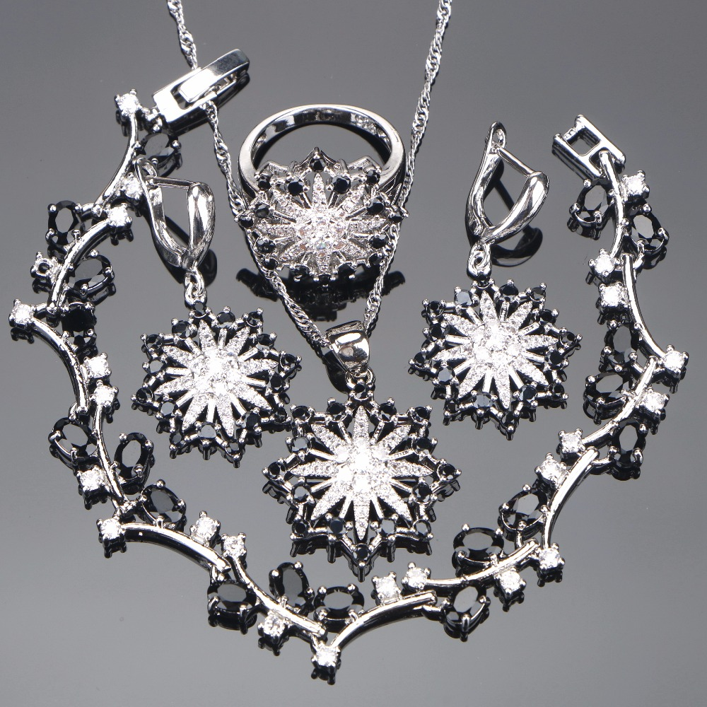 Wedding Zirconia Silver 925 Jewelry Sets Women