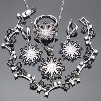Wedding Zirconia Silver 925 Jewelry Sets Women