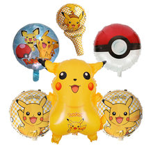1Pcs Globos Pokemon Pikachu Foil Balloons Inflatable Balloon Kids Birthday Party Decorations Baby Shower Supplies Gift For Kids(China)