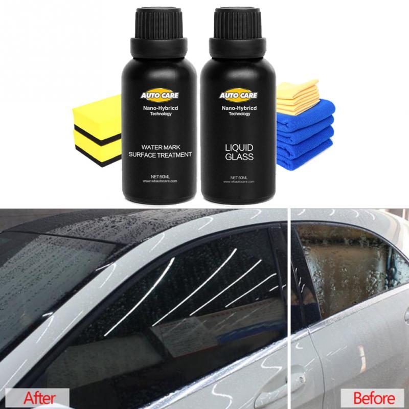 1 Set 50ml Car Paint Maintenance Liquid Kit Anti-scratch Car Ceramic Glass Coating Crystal Nanotech Paint Kit