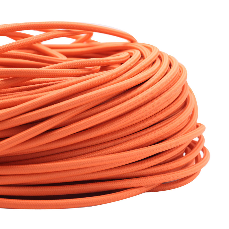 3 Meters Orange 2*0.75mm Eletrical Copper Wire Braided Electrical ...