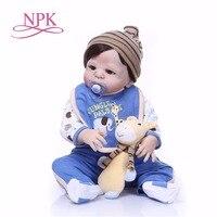 Bebes reborn NPK boy dolls 55cm Full Body Silicone Reborn Baby Doll Toys gift girls Toddler Babies Dolls reborn menino alive