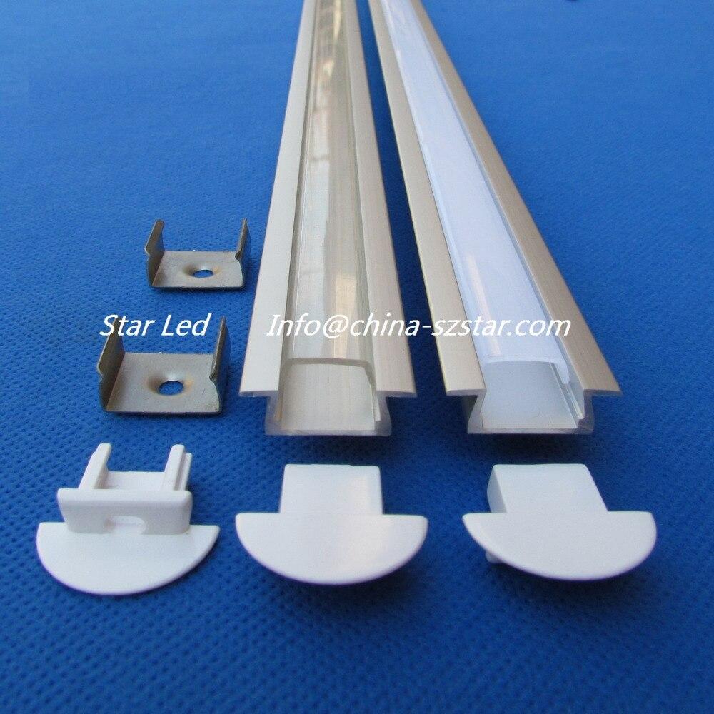 /pack;alloy Led Profile 1m For Aluminum Profile Led Bar Qc2207-1m 15pc 15m