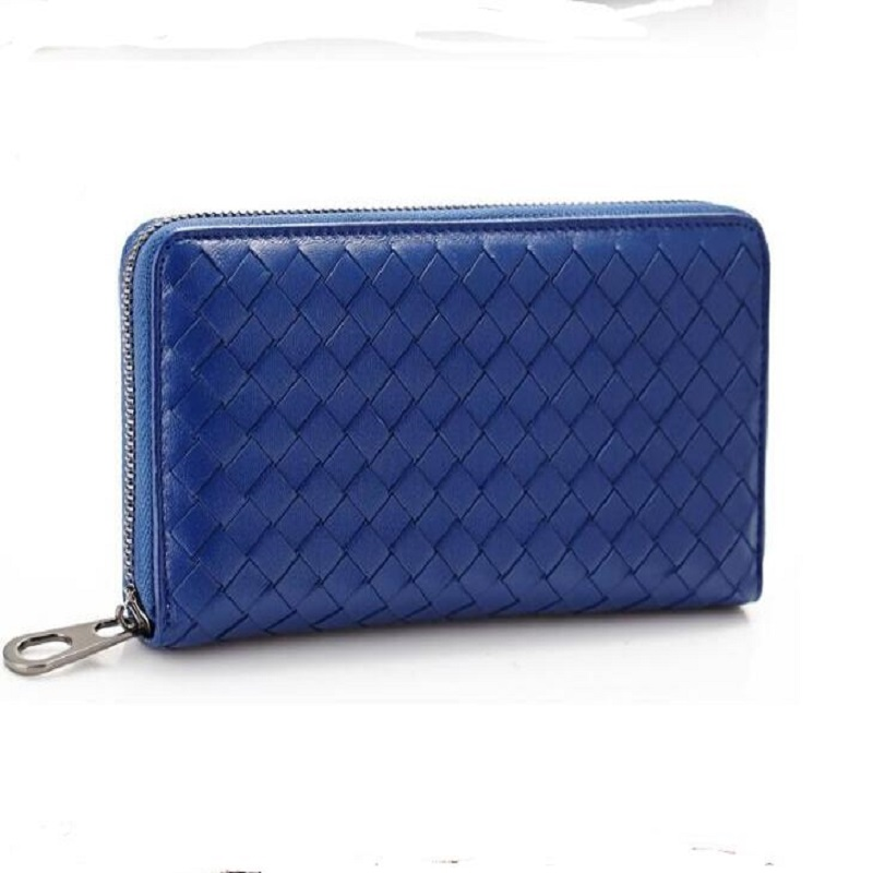 tuokayisi Brand Genuine Leather Women Wallet Female Purse Weave Credit Car..