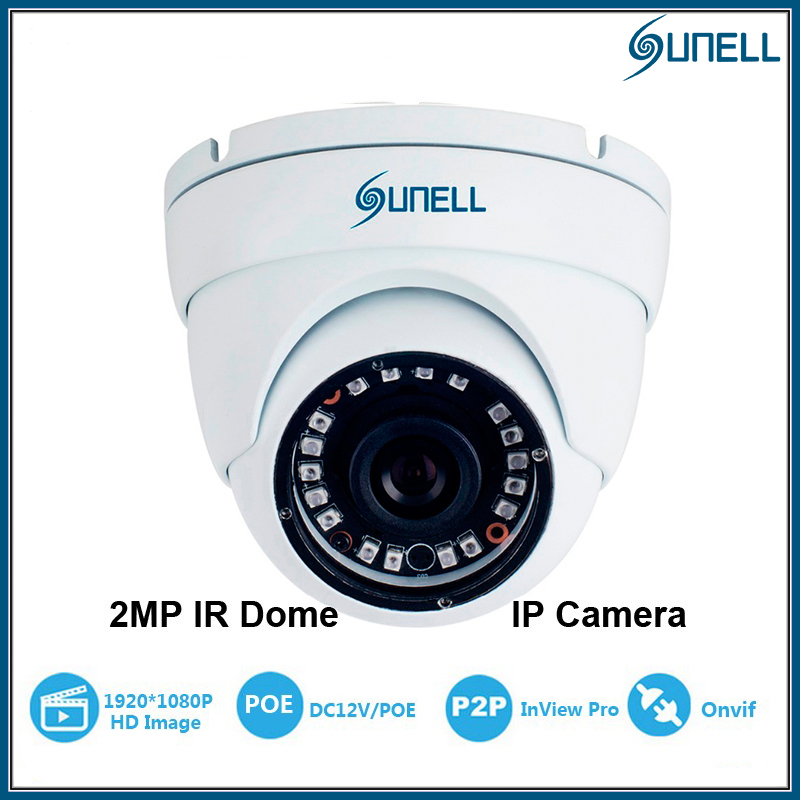 ФОТО 2MP Mini IP Dome Security Sunell CCTV IP Eyeball Camera 1080P Megapixel HD Vandal Proof Network IR Dome 18pcs IR15M IP66 Onvif