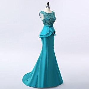 Image 4 - FADISTEE חדש הגעה אלגנטי ארוך שמלת ערב שמלות המפלגה vestido דה noiva פורמליות אפליקציות קריסטל ארוך סגנון