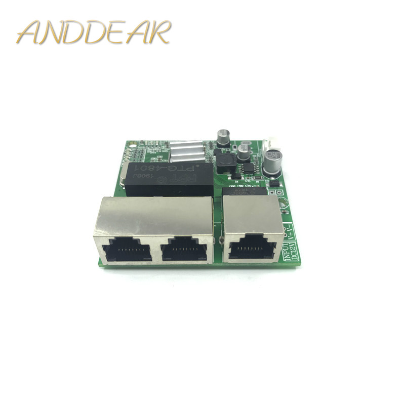 3 port Gigabit switch module is widely used in LED line 5 port 10 100 1000